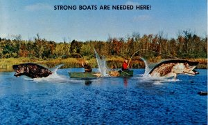 Exaggeration - Strong boats are needed here    (fishing)