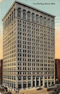 Detroit Michigan 1911 Postcard Ford Building
