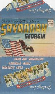 SAVANNAH, Georgia , 30-40s ; Souvenir and Military Folder
