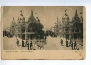 233088 FRANCE PARIS Exposition 1900 Italy pavilion Stereo view