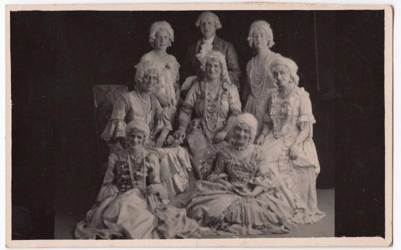 Social History, Group in 18th c Style Fancy Dress RP PPC, Unposted, by Swift