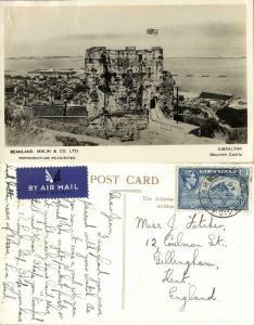Gibraltar, Moorish Castle (1946) Beanland, Malin & Co. RPPC Postcard