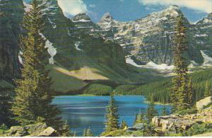 Canada Lake Moraine near Lake Louise Alberta