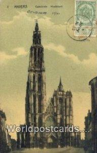 Cathedrale, Hoofdkerk Anvers, Belgium 1910 Stamp on front
