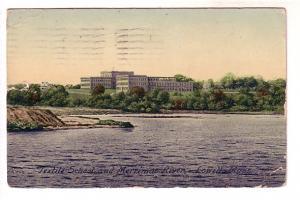 Textile School and Merrimac River, Lowell, Massachusetts,
