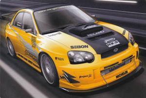 2 Door Yellow Subaru Street Racing Car PC #11