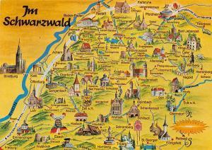 Im Schwarzwald Karte Map Oberkirch Wolfach Oberndorf Gaggenau Rastatt