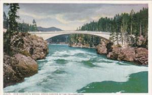 New Concrete Bridge Yellowstone National Park Detroit Publishing