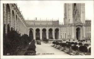 San Francisco CA Panama Pacific Expo Court of Abundance 1915 RPPC