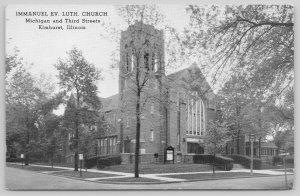 Elmhurst IL~Immanuel Evangelical Lutheran Church~Michigan & 3rd Street~1940s B&W