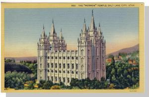 Nice Salt Lake City, Utah/UT Postcard, The Mormon Temple