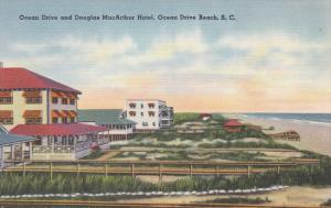 OCEAN DRIVE BEACH, South Carolina; Ocean Drive and Douglas MacArthur Hotel, 3...