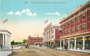 c1910 Mitchell Postcard 5019 View on Virginia Street  Reno NV