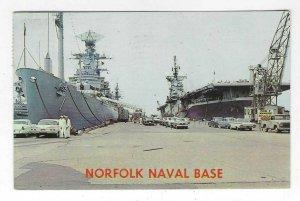 1966 Norfolk Naval Base, Norflok, VA Chrome Postcard