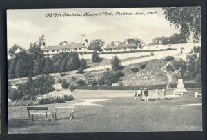 Mackinac Island,Michigan/MI Postcard, Old Fort/Mackinac Park