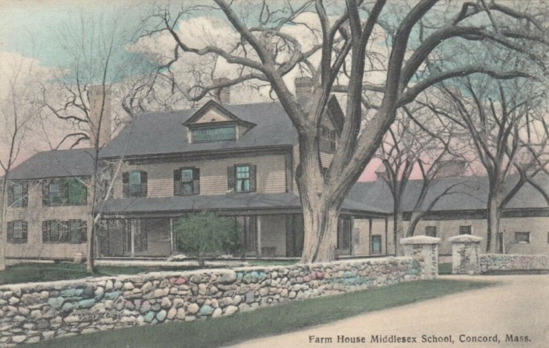 CONCORD, Massachusetts, 1900-10s; Farm House Middlesex School