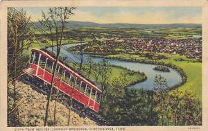 Vista from Incline, Lookout Mountain, Chattanooga, Tennessee,  PU-1938
