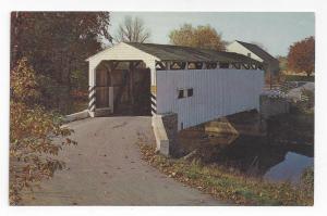 PA Lancaster Co Keller's Mill Covered Bridge Cocalico Creek