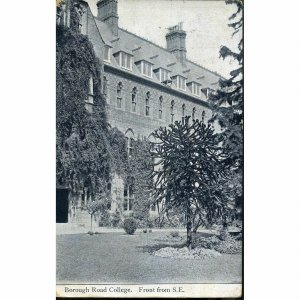 Postcard 'Borough Road College, Front from S.E.'