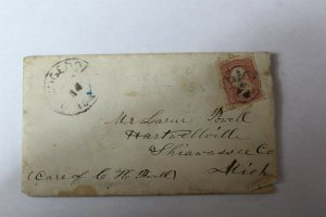 1868 Hand Written Letter with 1861-62 Scott #25 3 Cent Washington Stamp