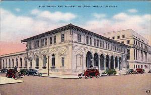 Post Office , MOBILE , Alabama , 30-40s