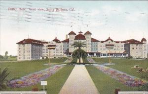 Santa Barbara Potter Hotewl Front View Santa Barbara California 1908