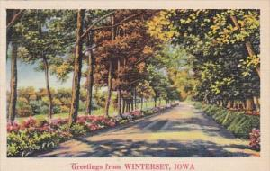 Iowa Greetings From Wellman 1938