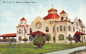 San Antonio Texas International Great Northern train depot antique pc Y13831