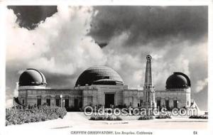 Space Postcard Post Card Los Angeles, CA, USA Griffith Observatory Space Post...