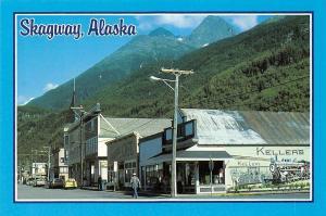 USA Skagway Alaska Boardwalks and Old Buildings Keller's Cars