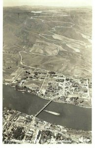 CK-174 ID, Lewiston Famous Lewis Hill Aerial View RPPC Real Photo Postcard