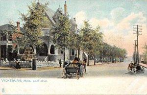 Vicksburg Mississippi South Street Tuck Vintage Postcard AA6534