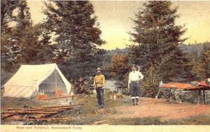 Moinichwalk Camp ME Rose and Twitcheil G. W. Morris Publisher Portland Postcard