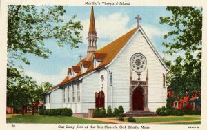 MA - Martha's Vineyard Island. Oak Bluffs. Our Lady Star of the Sea Church