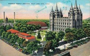 USA - Mormon Temple Grounds Salt Lake City Utah 04.28