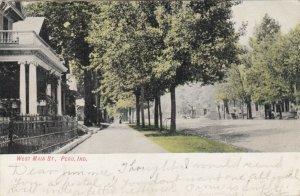 PERU , Indiana ,1906 ; West Main Street