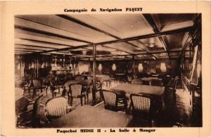 CPA Paquebot MEDIE II La Salle a Manger Cie de Navigation PAQUET SHIPS (703900)