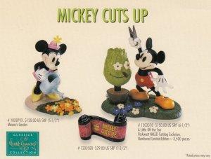 ADV ; Mickey Cuts Up Figurine , 1980s