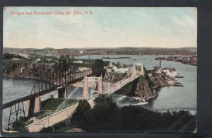 Canada Postcard - Bridges and Reversible Falls, St John, New Brunswick  T9883