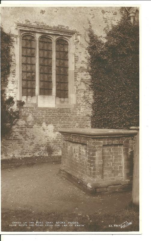 1930's The Grave Of The Poet Gray, Stoke Poges ~ Published By Walter Scott