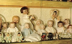 Vintage Postcard The Embers Doll Museum Group Of Baby Dolls Bisque Collections