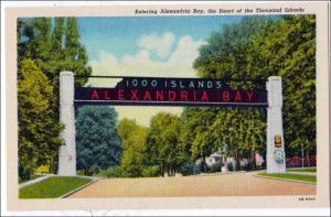 Entering Alexandria Bay NY