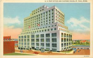 MN, Saint Paul, Minnesota, Post Office, Customs House, Curteich No. 6A-H1354