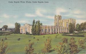 Iowa Cedar Rapids Water Works Curteich