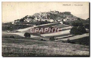 Postcard Old Vezelay Vue Generale