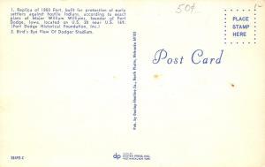Fort Dodge Iowa~Birdseye Dodger Football Stadium~Baseball Diamond~1960s Postcard