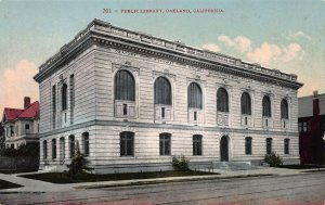 Public Library, Oakland, California, Early Postcard, Unused