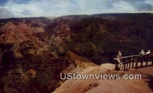 Waimea Canyon Kauai HI 1960