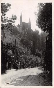 Styria Austria~Pilgrimage Church Maria Straßengel RPPC 1936 Olympics Cancel