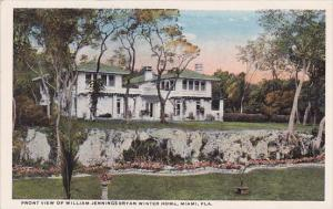 Florida Miami Front View Of William Jennings Bryan Winter Home